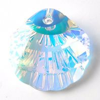 Crystal AB 6723 Swarovski 16mm Shell Pendant